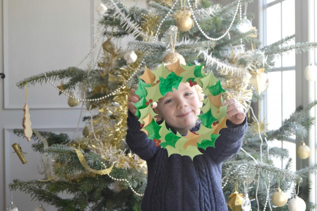 couronne de Noël enfant