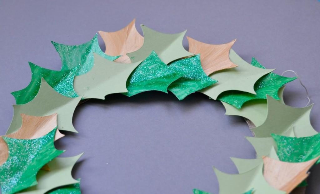 feuilles de houx papier