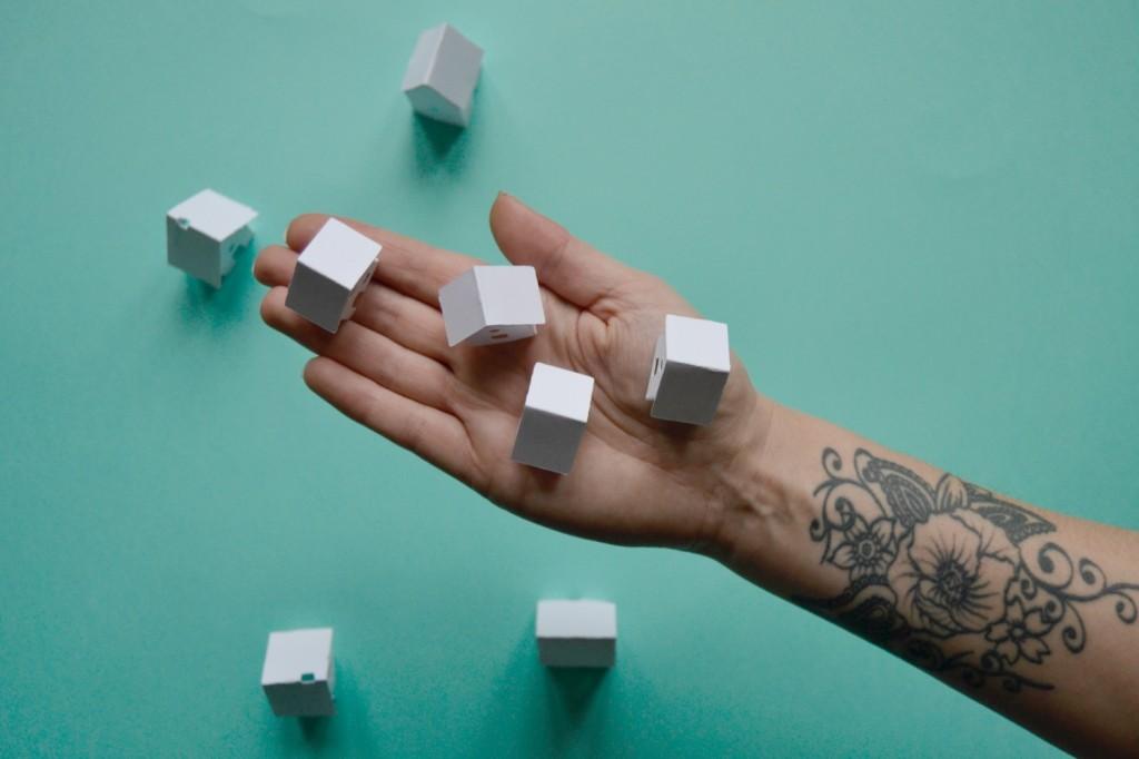 la mini maison en papier -