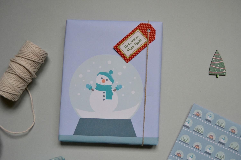 Les emballages cadeaux no l maman tout faire - Bonhomme de neige en papier ...