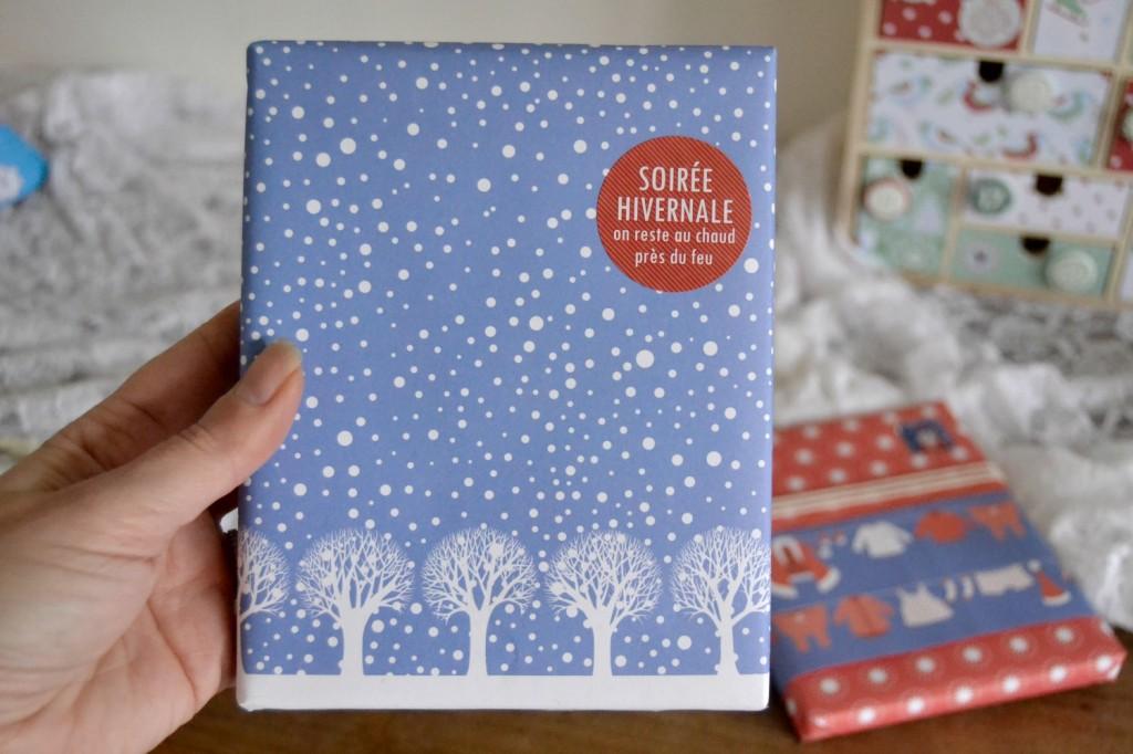 papier cadeau neige