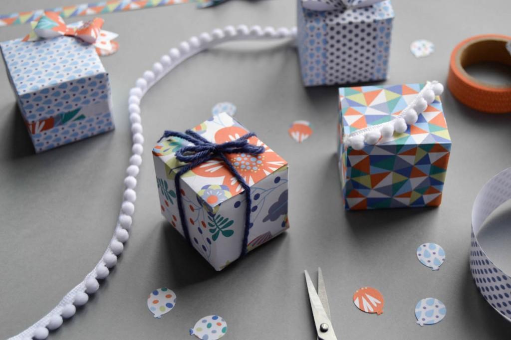 les min i boites en papier