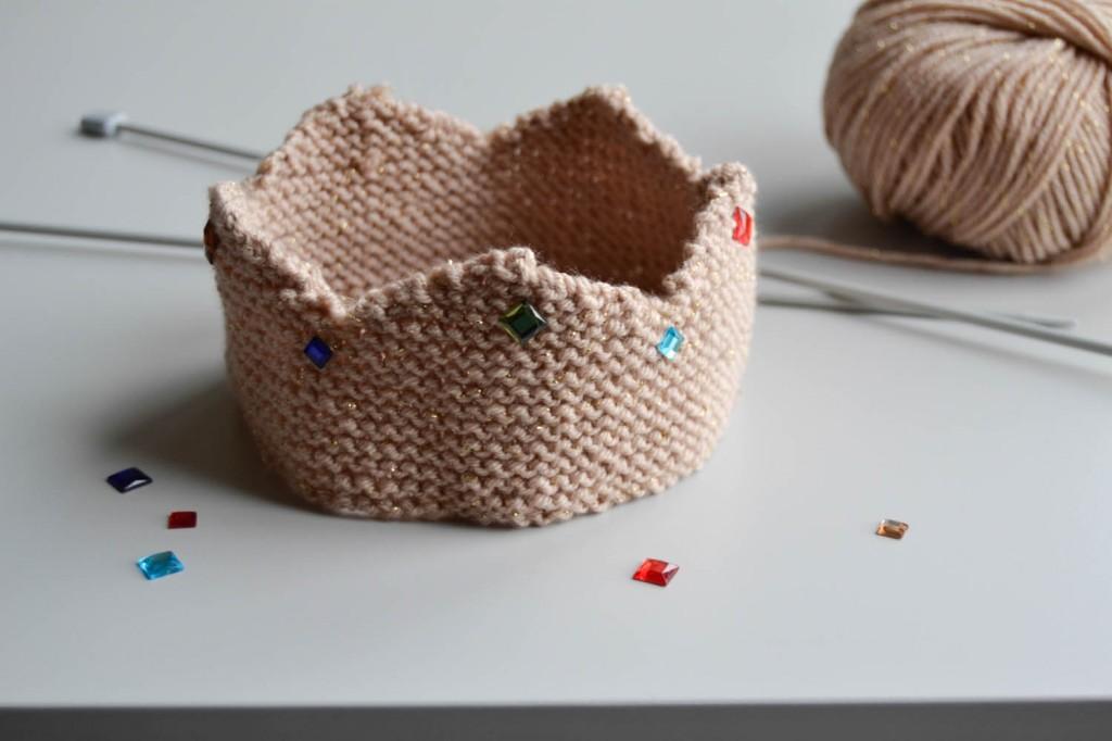 tuto couronne en tricot