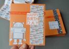 invitations d'anniversaire robot