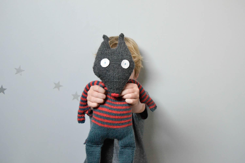 Mon loup au tricot - Doudou facile a realiser ...