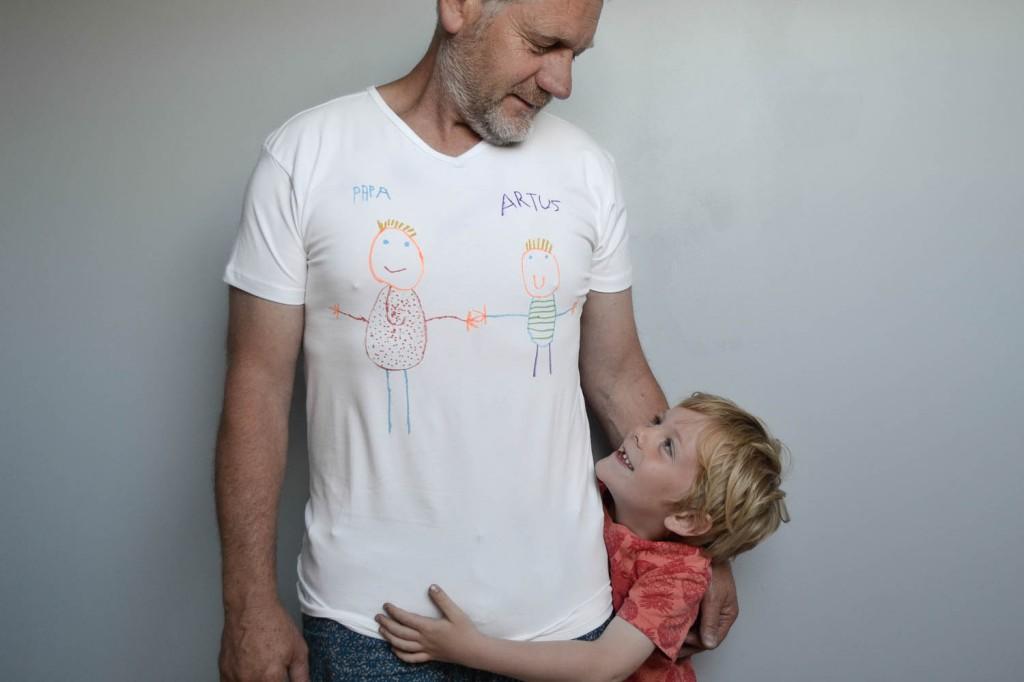 tee shirt personnalis f te des p res maman tout faire. Black Bedroom Furniture Sets. Home Design Ideas