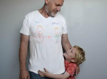 tee-shirt personnalisé pour la fête des pères