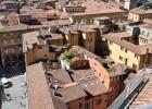 vue des toits végétaux de Bologne_