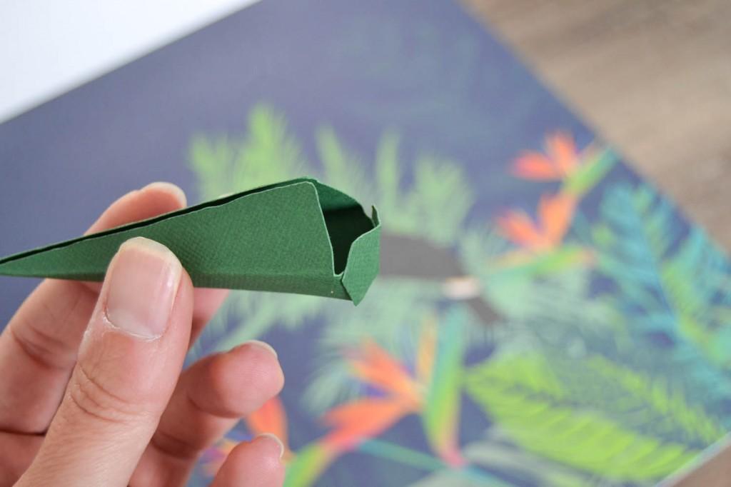 oiseau du paradis en papier 1