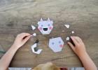 puzzle loup en papier