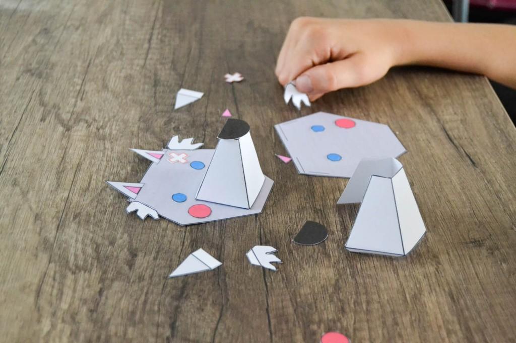 puzzle loup en papier 3 D