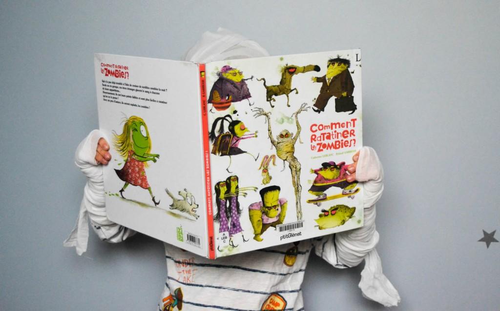 livre enfant ratatiner des zombies