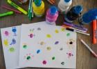 monstres avec peinture à doigt