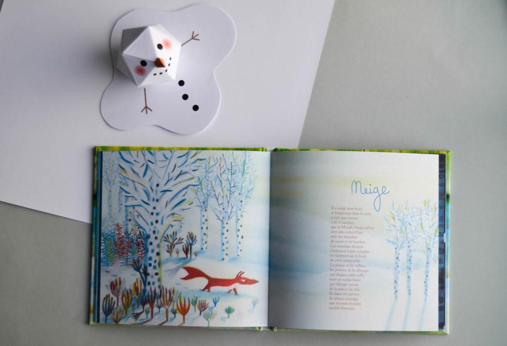 livre de poèmes neige