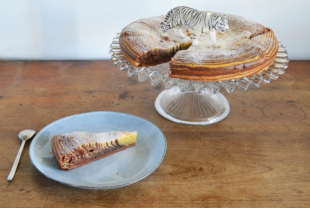 recette gâteau à rayures