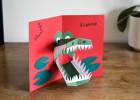 carte pop up crocodile
