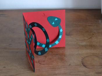 carte pop up serpent