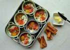recettes express oeufs cocotte saumon