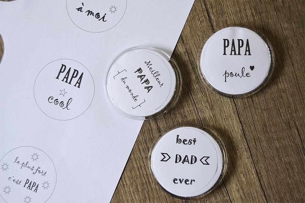 badges fête des pères