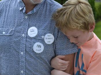 badges personnalisés fête des pères