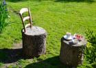 faire une chaise avec un rondin de bois
