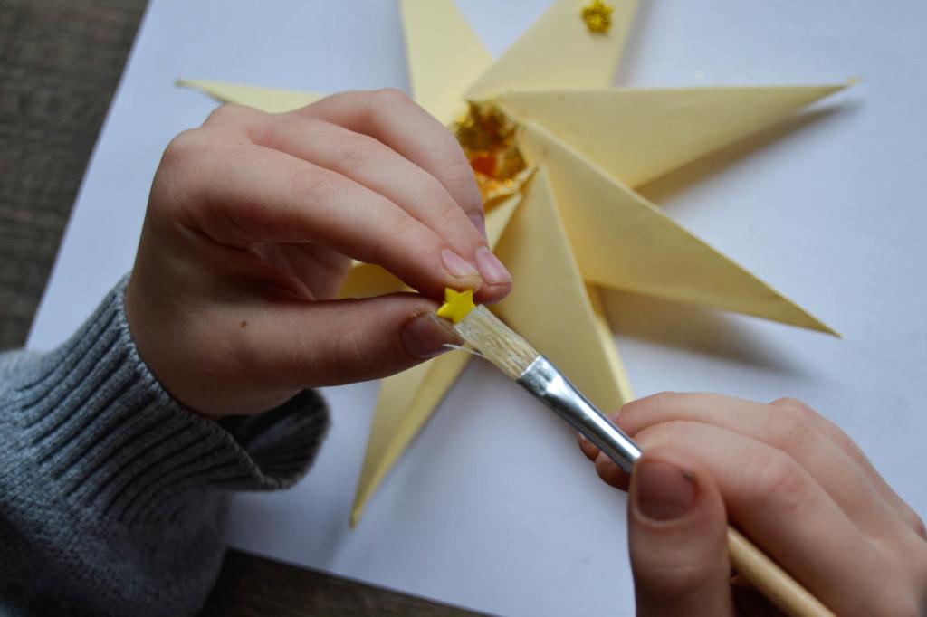 Etoile origami 2 étape 2