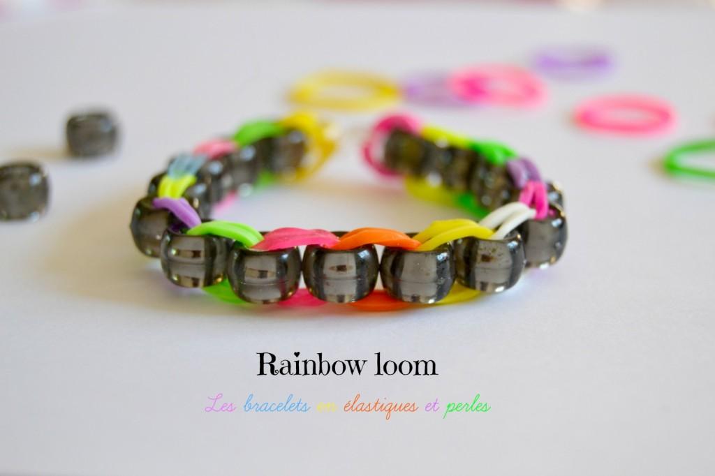 les bracelets en  u00e9lastiques et perles sans machine